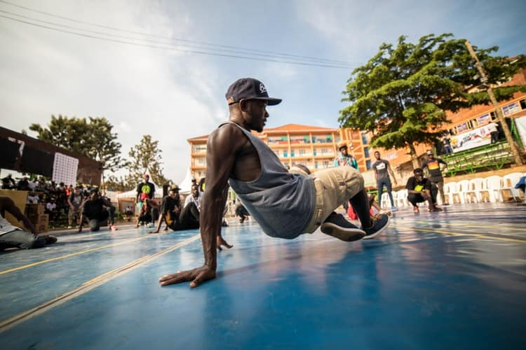 Choreographer doing street dance